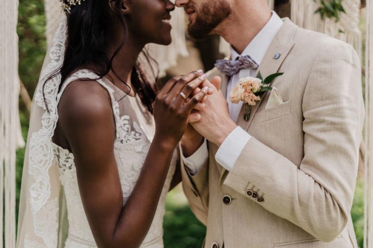 Bruidspaar met ringen