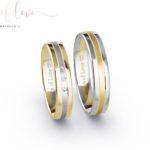 Rings of Love trouwringen witgoud geelgoud