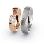 Rings of Love trouwringen witgoud roségoud