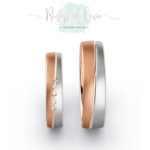 Rings of Love witgoud roségoud